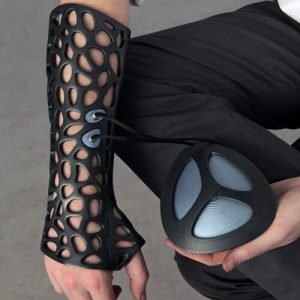 Osteoid 3D-printed medical cast