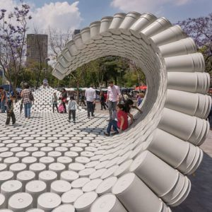 One Bucket at a Time Parametric Pavilion