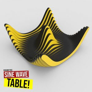 Sine Wave Table Grasshopper3d Definition weaverbird plugin