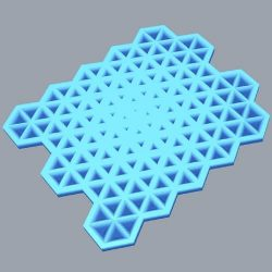Triangle Holes Grasshopper3d Example