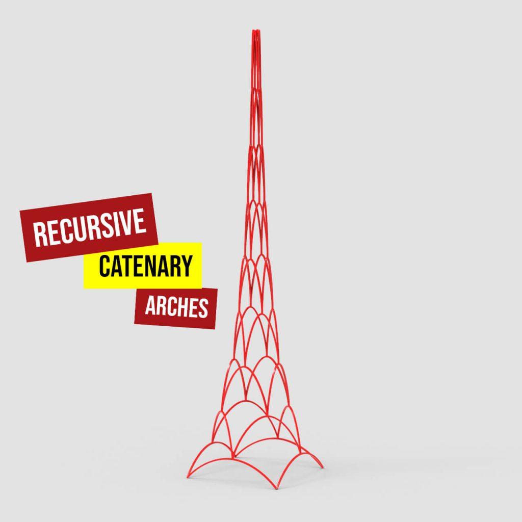 recursive catenary arches 1200
