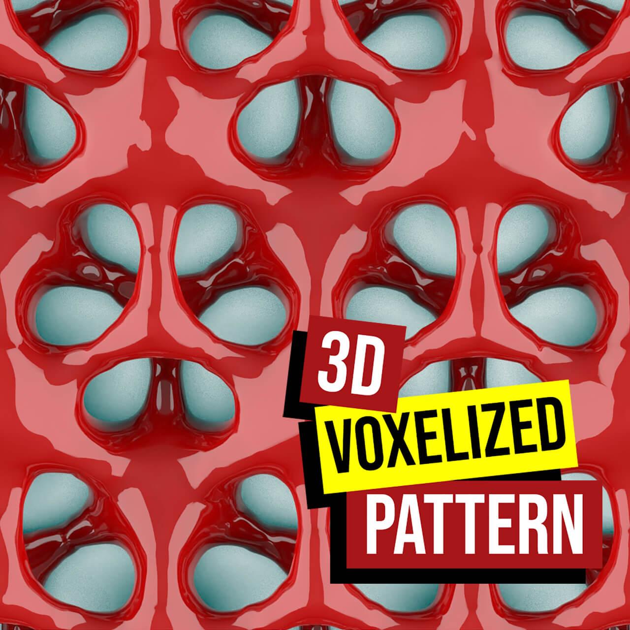 3d Voxelized pattern-1200