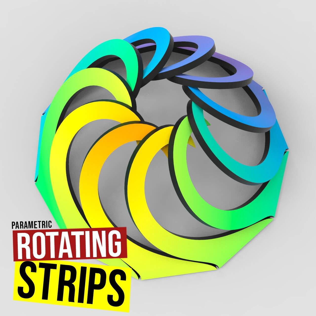 Rotating Strips Grasshopper3d Definition