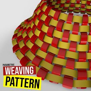 Weaving Pattern Grasshopper3d Plugin Mesh+ Weaverbird Plugin