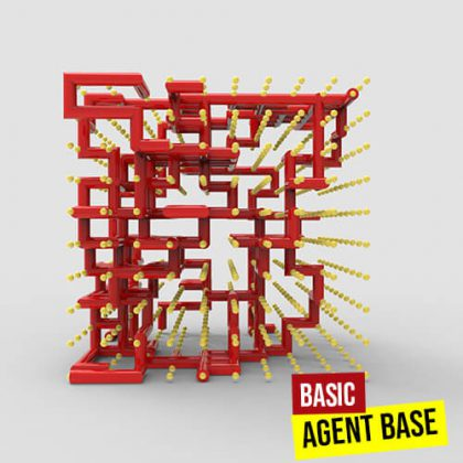 Basic Agent Base python grasshopper3d definition