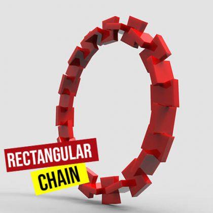 Rectangular Chain python grasshopper3d definition