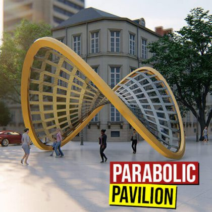 Parabolic Pavilion Grasshopper3d Definition
