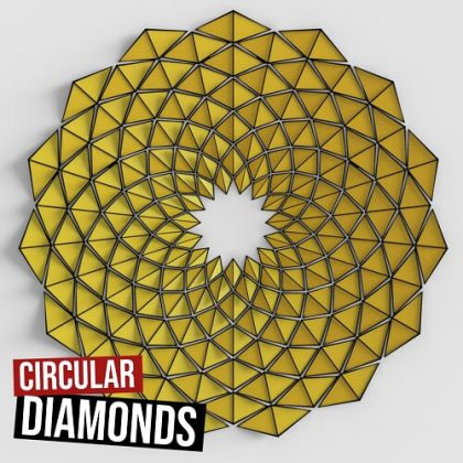 Circular Diamonds Grasshopper3d Definition