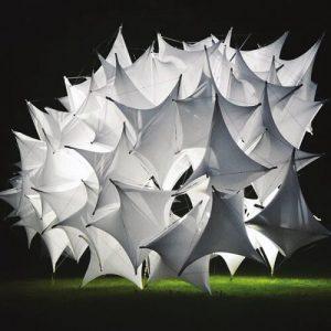 Underwood Pavilion parametric tensegrity structure