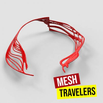 Mesh Travelers Grasshopper3d Definition Anemone Heteroptera Noise 4D Dendro Plugin