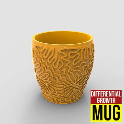 Differential Growth Mug Grasshopper3d Parakeet Pufferfish Plugin
