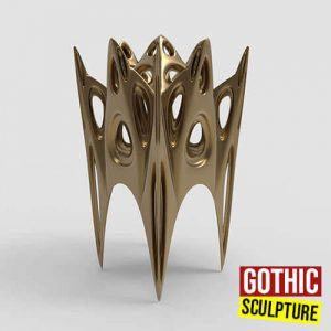 Gothic Sculpture Grasshopper3d Definition Kangaroo Lunchbox Weaverbird plugin