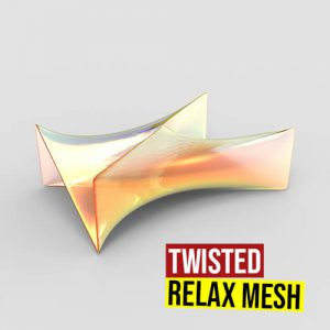 Twisted Relax Mesh Grasshopper3d Definition Kangaroo Weaverbird Plugin