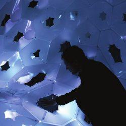 Nuit Blanche Pavilion a lightweight structure