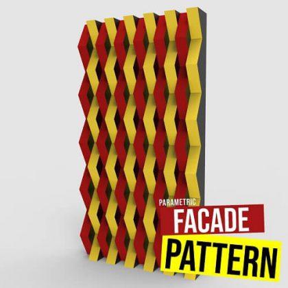 Parametric facade Pattern Grasshopper3d Definition