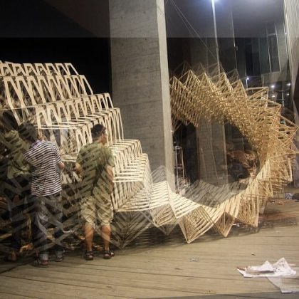 O-STRIP Pavilion Digital Fabrication