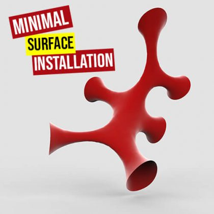 Minimal Surface Installation Grasshopper3d Definition Kangaroo Weaverbird Plugin