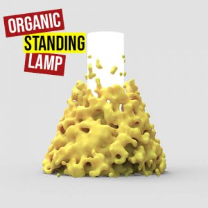 Organic Standing Lamp Grasshopper3d Definition Dendro physarealm plugin