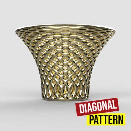 Diagonal Pattern Grasshopper3d Definition Weaverbird Kangaroo plugin