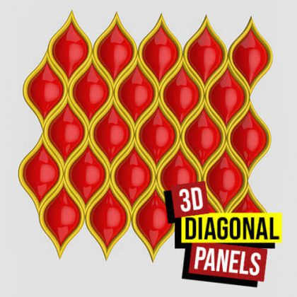 3D Diagonal Panels Grasshopper3d Definition