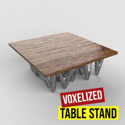 Voxelized Table Stand Grasshopper3d Definition Dendro plugin
