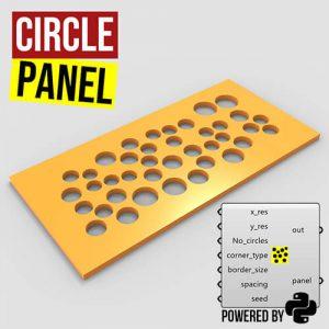Circle Panel Grasshopper3d python script