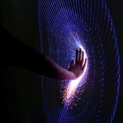 Antrum graphical luminous interactive installation