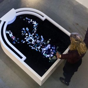 Plastic Reflectic interactive installation