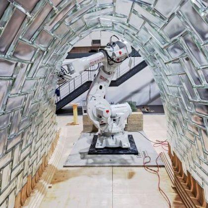 Glass Vault Robotic Fabrication