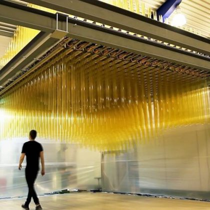 Breaking the Surface Interactive Kinetic Installation