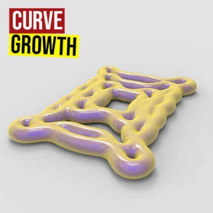 Curve Growth Grasshopper3d Definition Kangaroo Dendro Plugin