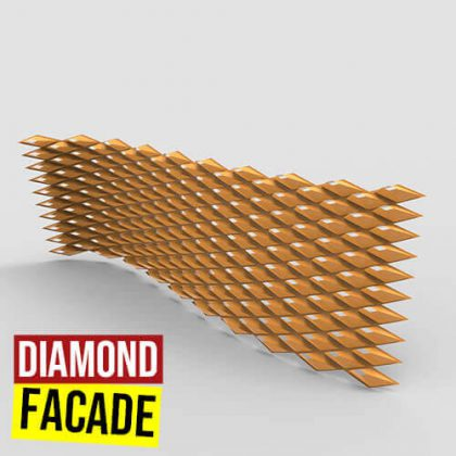 Diamond Facade Grasshopper3d Definition Lunchbox Weaverbird Pufferfish plugin