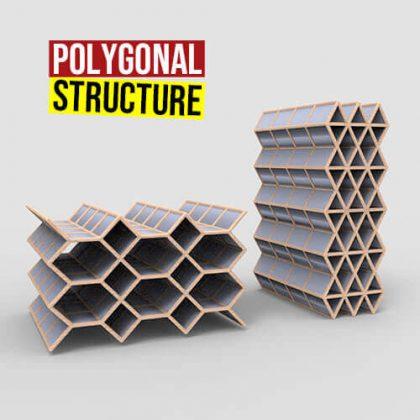 Polygonal Structure Grasshopper3d Definition