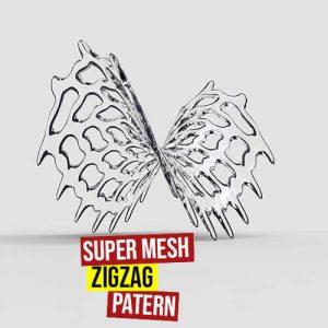 Super Mesh Zigzag Pattern Grasshopper3d