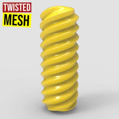Twisted Mesh Grasshopper3d Definition Weaverbird Plugin