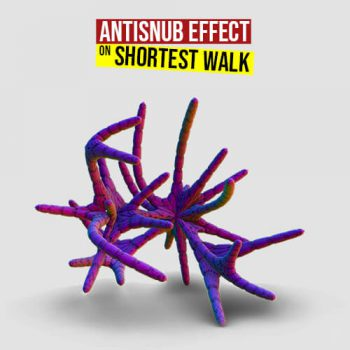 Antisnub Effect on Shortest Walk