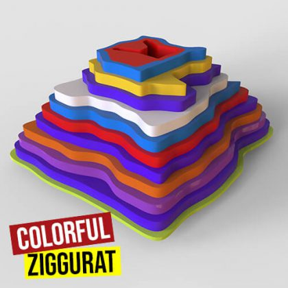 Colorful Ziggurat Grasshopper3d Pufferfish Plugin