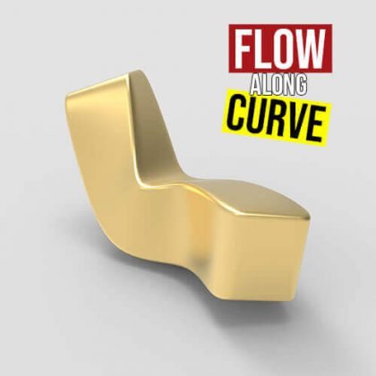 Flow Along Curve Grasshopper3d jackalope plugin