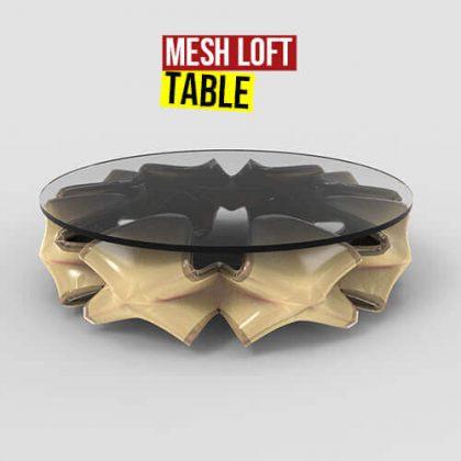 Mesh Loft Table Grasshopper3d Weaverbird plugin