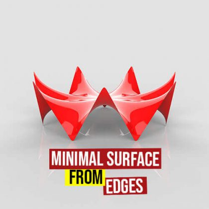 Minimal Surface From Edges grasshopper3d