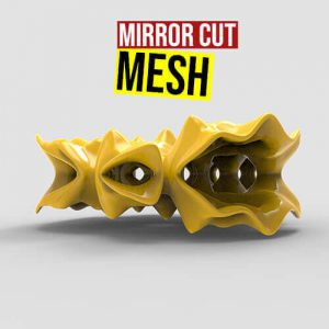 Mirror Cut Mesh Grasshopper3d Pufferfish weaverbird plugin
