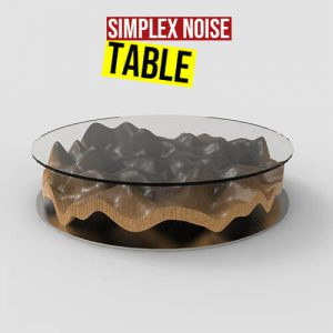 Simplex Noise Table grasshopper3d Ngon weaverbird