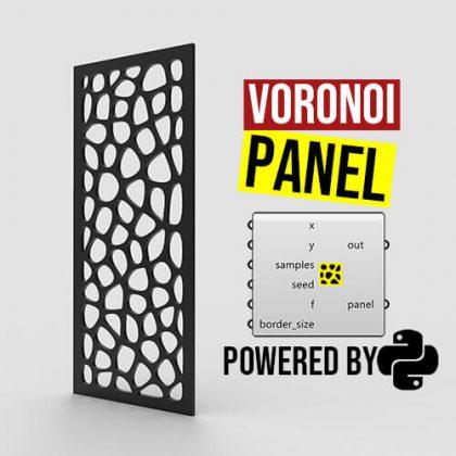 Voronoi Panel Python Grasshopper3d