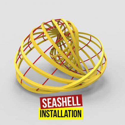 Seashell Installation Grasshopper3d