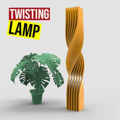 Twisting Lamp Grasshopper3d