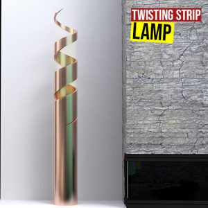 Twisting Strip Lamp Grasshopper3d