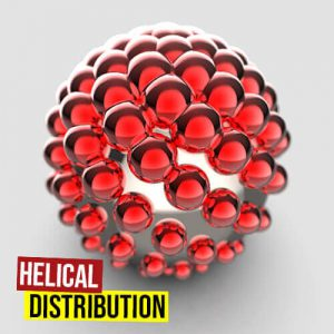 Helical Distribution Grasshopper3d