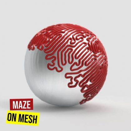 Maze on Mesh Grasshopper3d