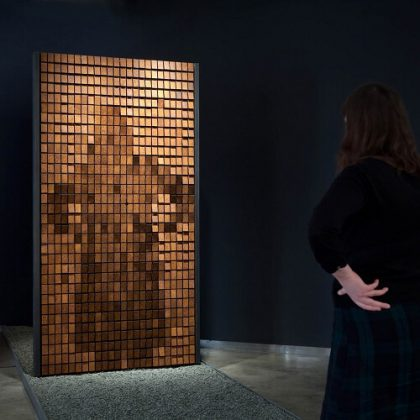 Rust Mirror Interactive Installation