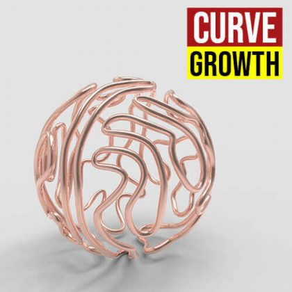 Curve Growth Grasshopper3d
